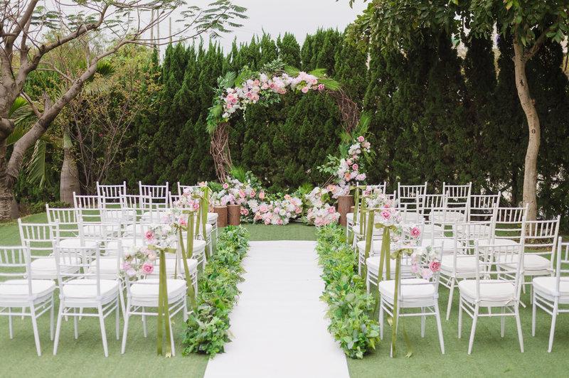 戶外婚禮,戶外證婚,歐式戶外婚禮,草地婚禮,花園婚禮,桃園婚禮,小桌數