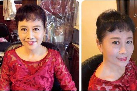 婆婆頭髮稀少細軟.頭頂區利用局部髮片. 後面利用刮澎方式與假髮銜接曾加髮量^^ 美麗的婆婆恭喜^^