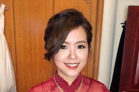 優雅線條盤髮(附新娘推薦文) ?米妃Mifie's makeup studio ?