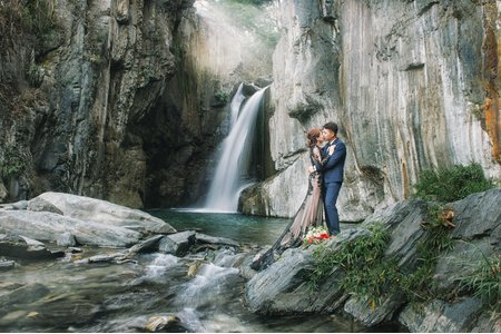 時光流域 | 婚紗客照,夢谷瀑布,清境農場,夜景