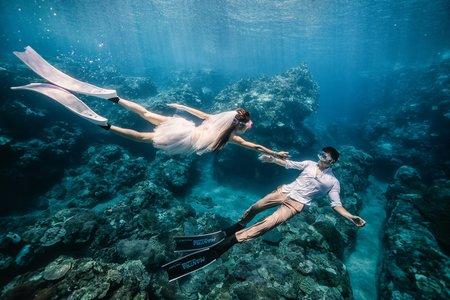 時光流域 | 蘭嶼海底婚紗+陸上