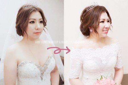 白紗造型(Amy準備蕾絲罩衫)