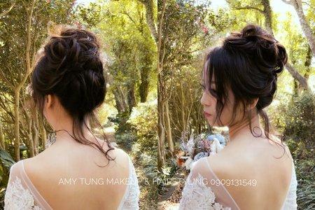 浪漫盤髮造型