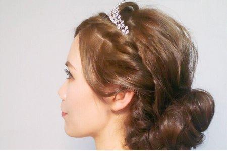 新娘白紗空氣感低盤髮