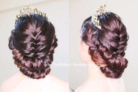 黑髮新娘(只剩髮尾一點顏色)