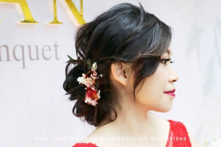 黑髮新娘 空氣感低盤髮