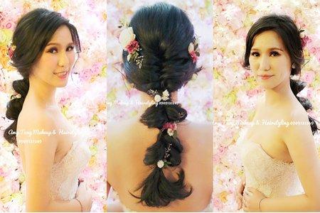 甜美編髮+AMY手作乾燥花飾品
