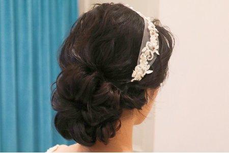 白紗造型 黑髮新娘