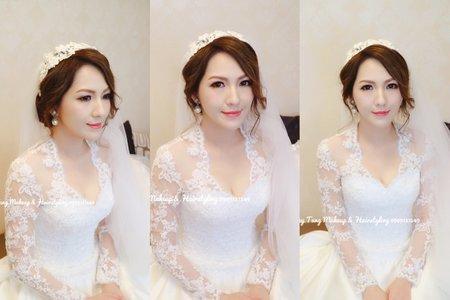 蕾絲白紗造型