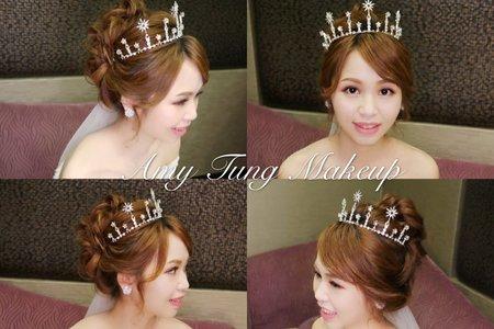 日系高盤髮+公主皇冠