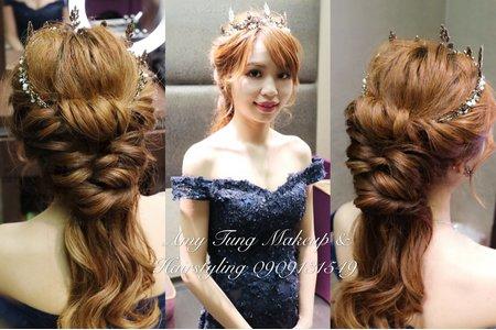 甜美編髮造型
