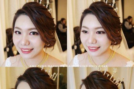 白紗造型 精緻眼妝