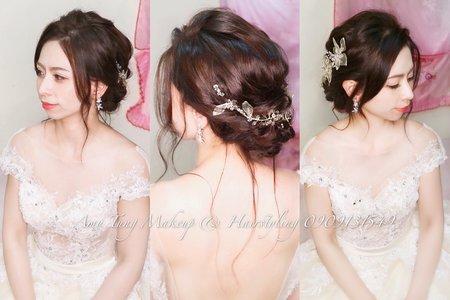 韓系唯美低盤髮