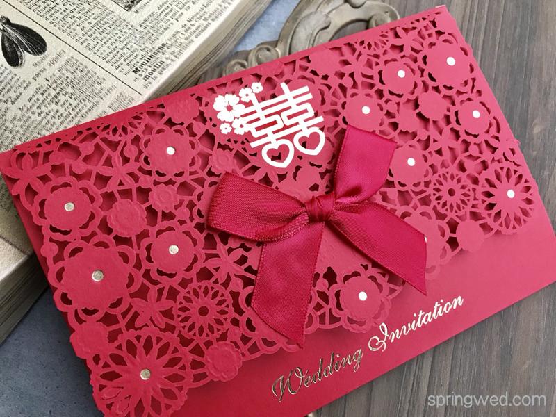 紅色喜帖也可以很時尚~燙金質感新人都說讚!