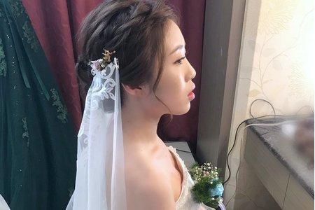 仙氣編髮空氣感白紗造型