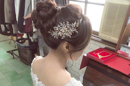 高盤髮造型 台中新秘 wiwi stylist