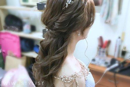 浪漫公主捲髮造型 wiwi stylist葳葳造型