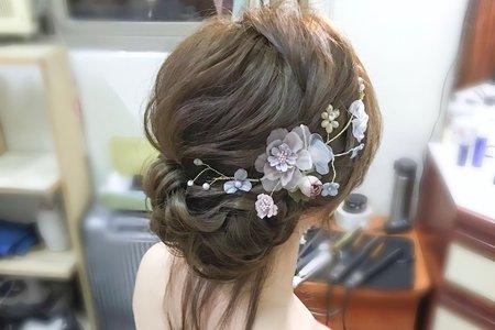 文定仙仙低盤髮造型 wiwi stylist葳葳造型
