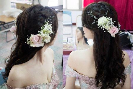 昕霖 結婚宴客彩妝鮮花造型