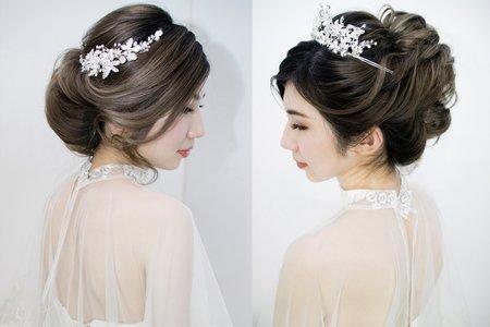 歐美蓬鬆線條柔美髮型