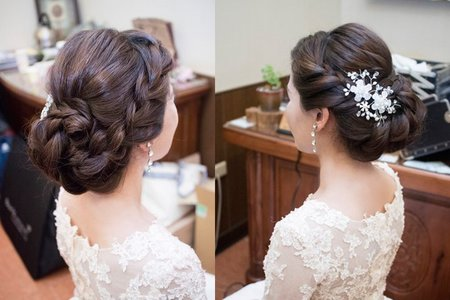 古典優雅盤髮造型