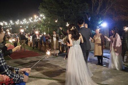 自然系放髮-戶外婚禮