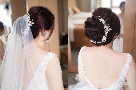 簡約時尚新娘首選造型