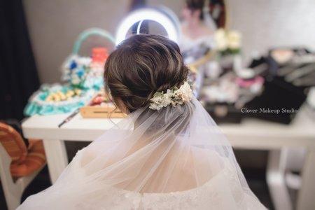 清新眼妝線條乾燥花盤髮❤️台中新秘薇瑄彩妝造型