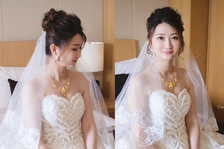 蓬鬆高盤髮型-台中新娘秘書薇瑄彩妝造型