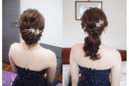 線條低盤髮型-台中新娘秘書薇瑄彩妝造型