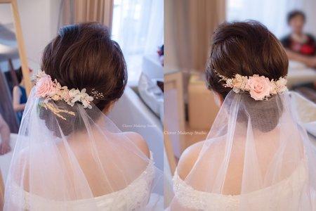 乾燥花髮型-台中新娘秘書薇瑄彩妝造型
