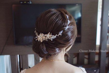 典雅編髮造型-台中新娘秘書薇瑄彩妝造型