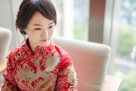 婚攝 台中雅園新潮 婚禮攝影 唯美龍鳳褂新娘 G & C