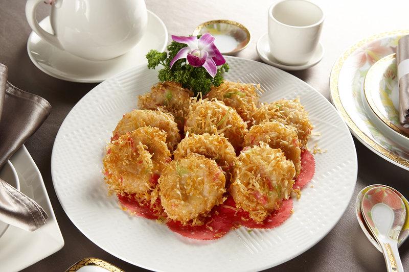 百花釀蝦餅