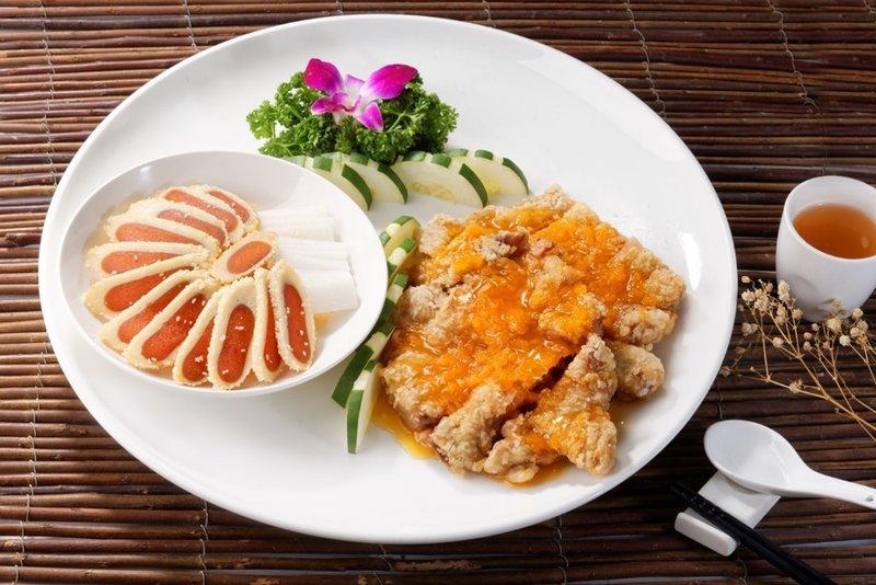 烤烏魚子&檸檬軟雞 雙拼