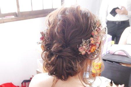 新竹新娘秘書Miki~浪漫蓬鬆的韓系低盤髮