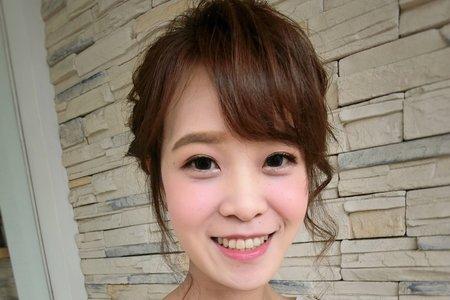 嘉義新秘Rainie /低髻盤髮造型