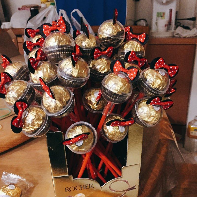米奇米妮造型金莎棒 婚禮小物作品