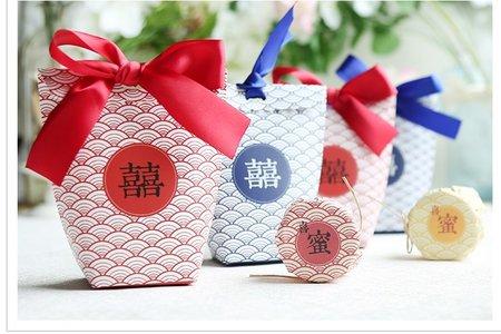 日式風格鱗紋喜糖盒 婚禮小物