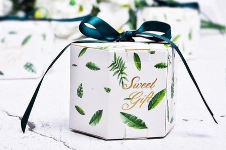 森林派對 六邊形囍糖盒 婚禮小物