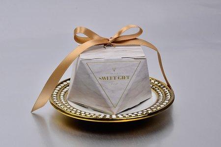 輕奢簡約 鑽石造型囍糖盒 婚禮小物