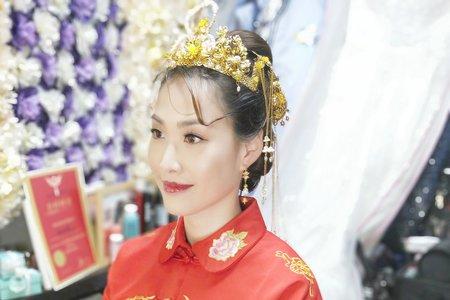 💟龍鳳褂彩妝造型創作💟初體驗