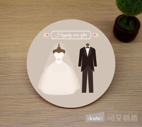 新郎新娘 吸水杯墊
