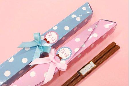 甜美點點蝴蝶結筷架組合