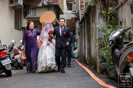 【台北婚攝】明翰&人婕 文定迎娶紀錄 @蘆洲-海霸王餐廳
