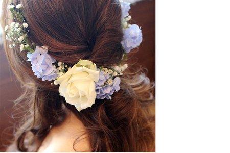 新娘芳結婚三造型&捧花設計