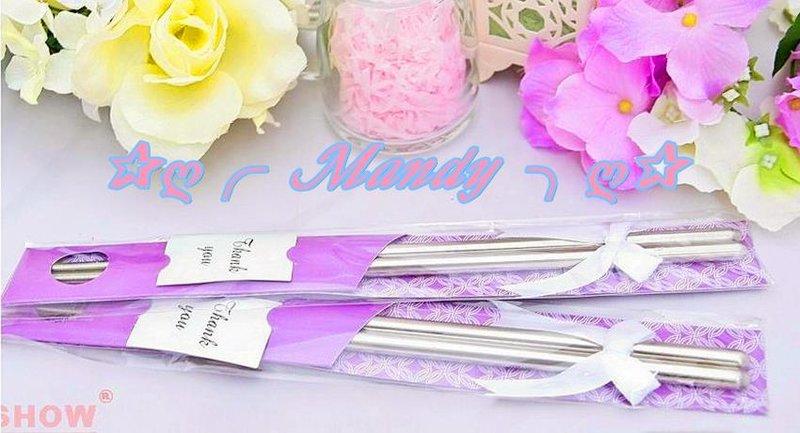 日式緞帶精緻款包裝鋼筷組(紫色)