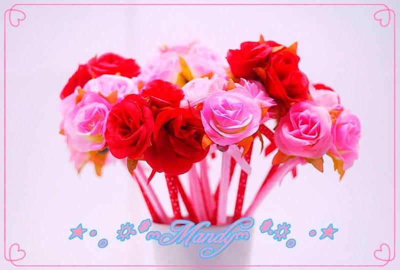 三朶玫瑰花筆 優質造型原子筆批發量販