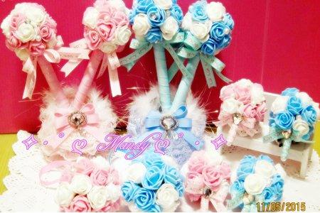 衷心感謝會員訂製『浪漫花園捧花禮十件組』、『綻放的愛紗網玫瑰台製吊飾版』、『綻放的愛玫瑰捧花禮12件組』…等;手做捧花小物、伴娘捧花、捧花筆