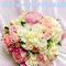 韓式六合一新娘手捧花束打樣